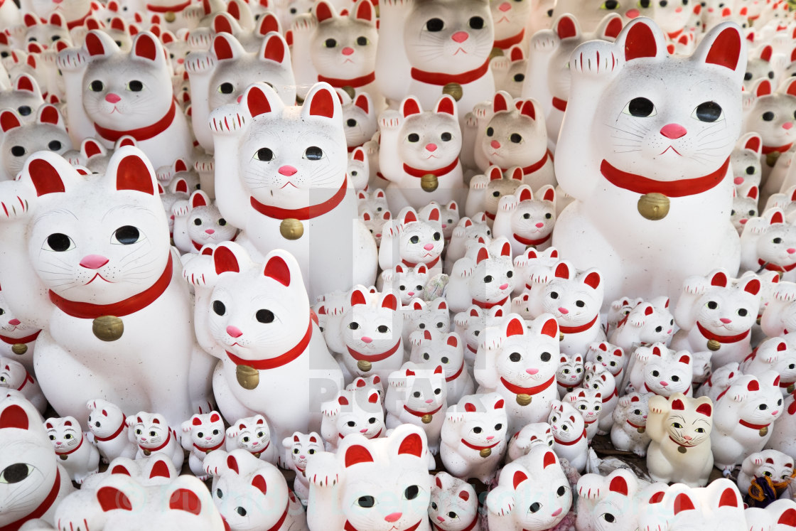 """Maneki neko also known as chinese fortune cat"" stock image"