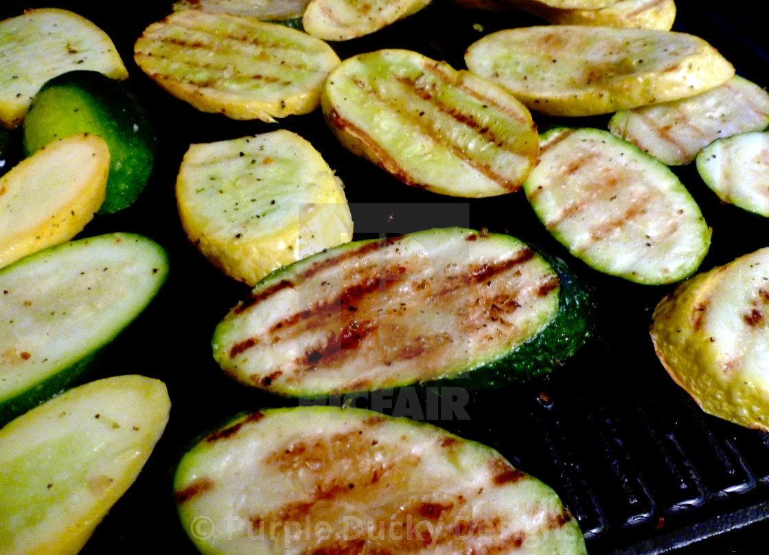 """Grilled zucchini and squash"" stock image"