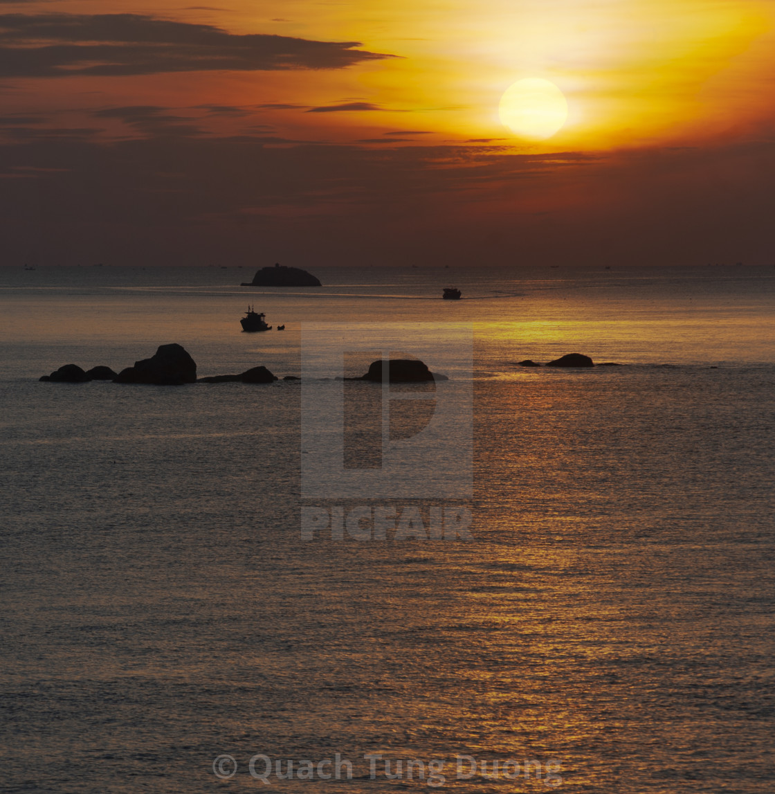 """Sunrise on Nha Trang sea"" stock image"
