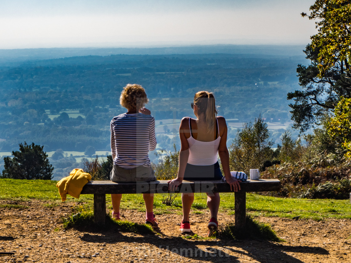 """Tea with a View near Leith Tower, Surrey"" stock image"