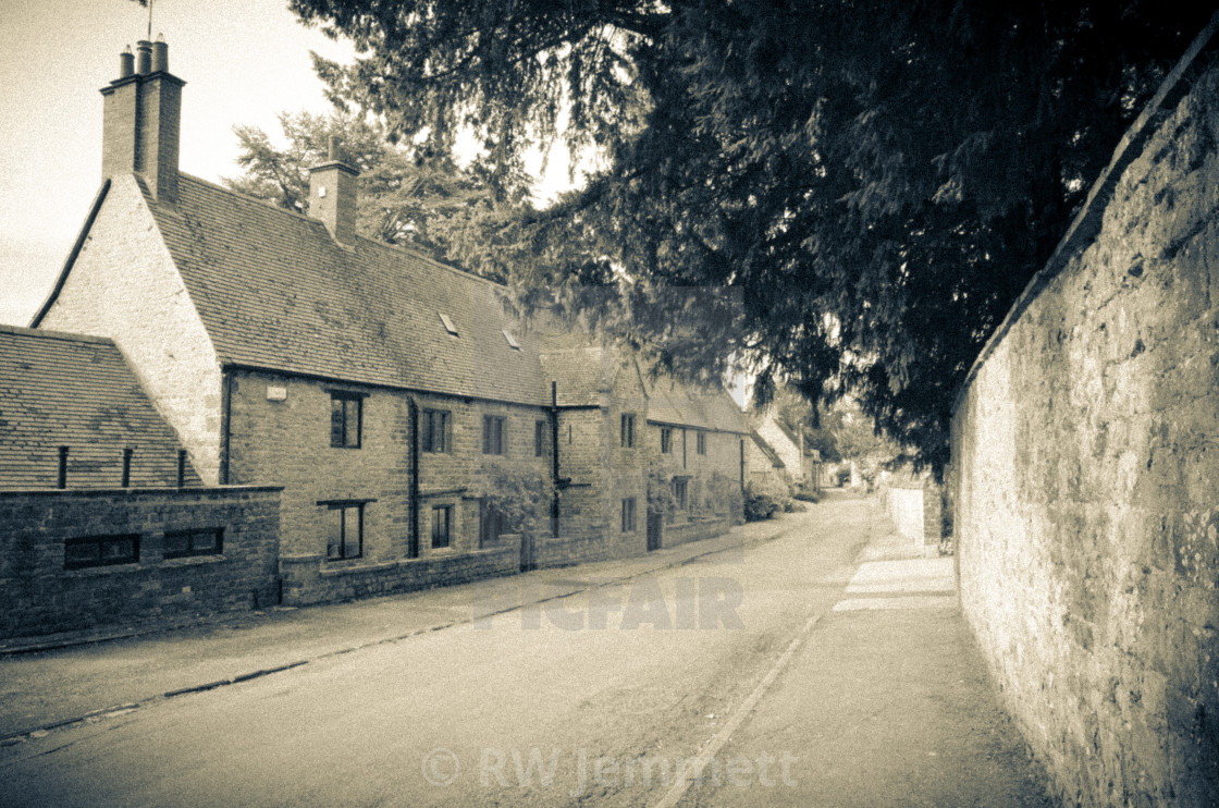 """Oxfordshire Village Street"" stock image"