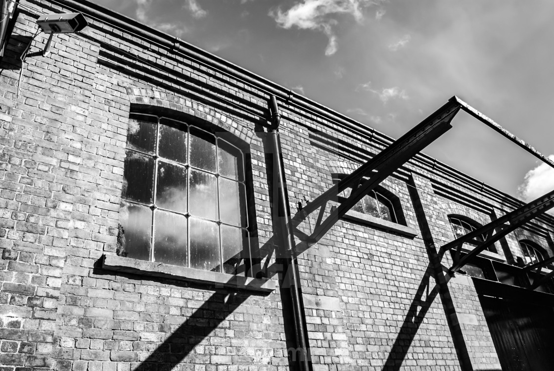 """Tetbury Railyard - Tetbury Gloucestershire. Black and White"" stock image"