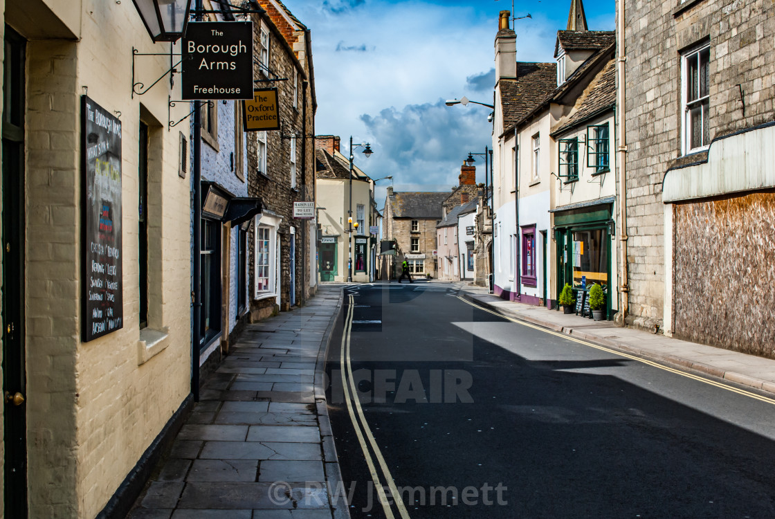 """Tetbury, Gloucestershire, United Kingdom April 22 2012. View of a typical..."" stock image"