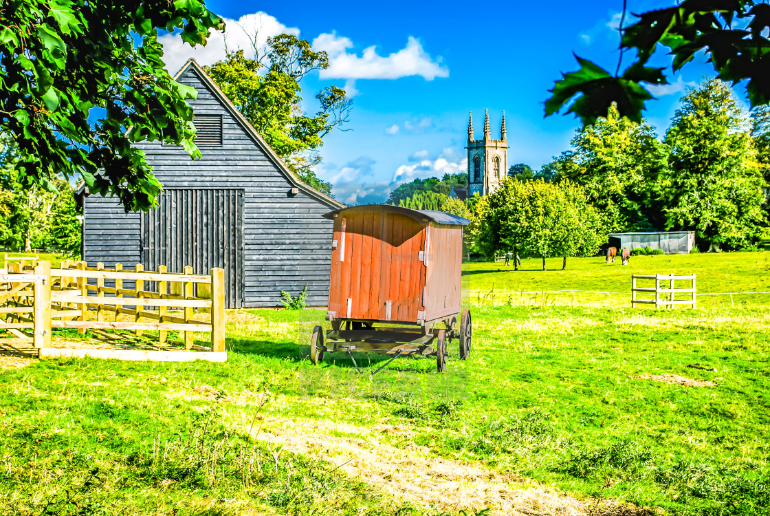"""Village scene - Chawton Hampshire UK"" stock image"
