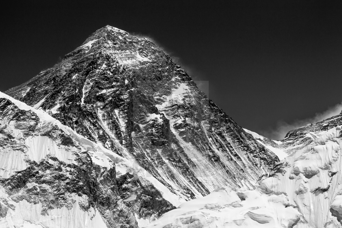 """Mount Everest seen from Kala Patthar"" stock image"