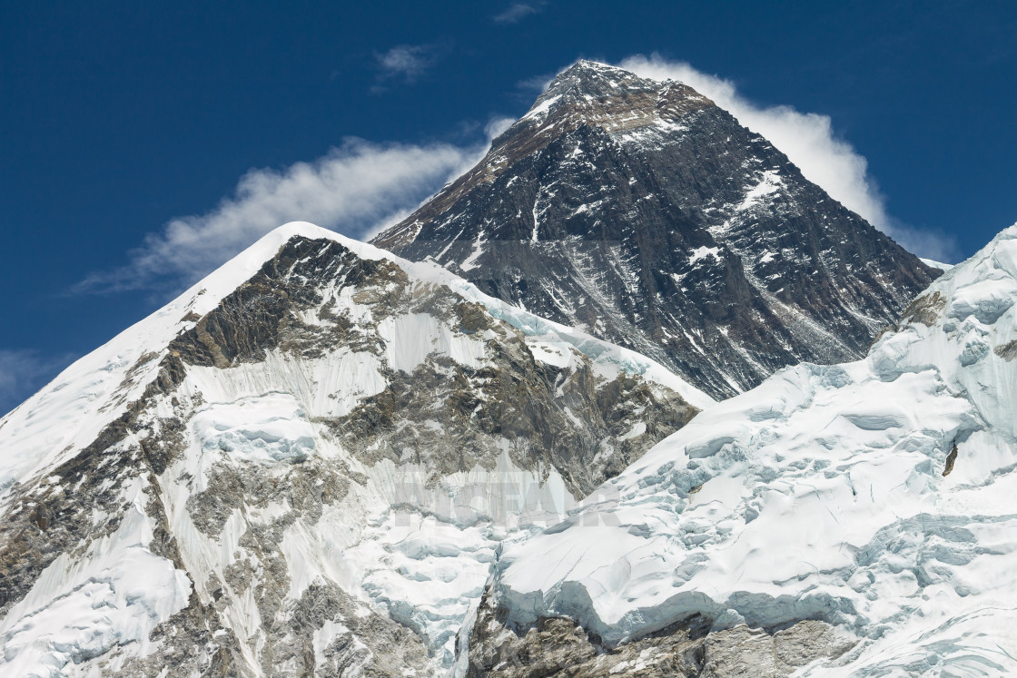 """Mount Everest seen from the way to the Kala Patthar's top"" stock image"