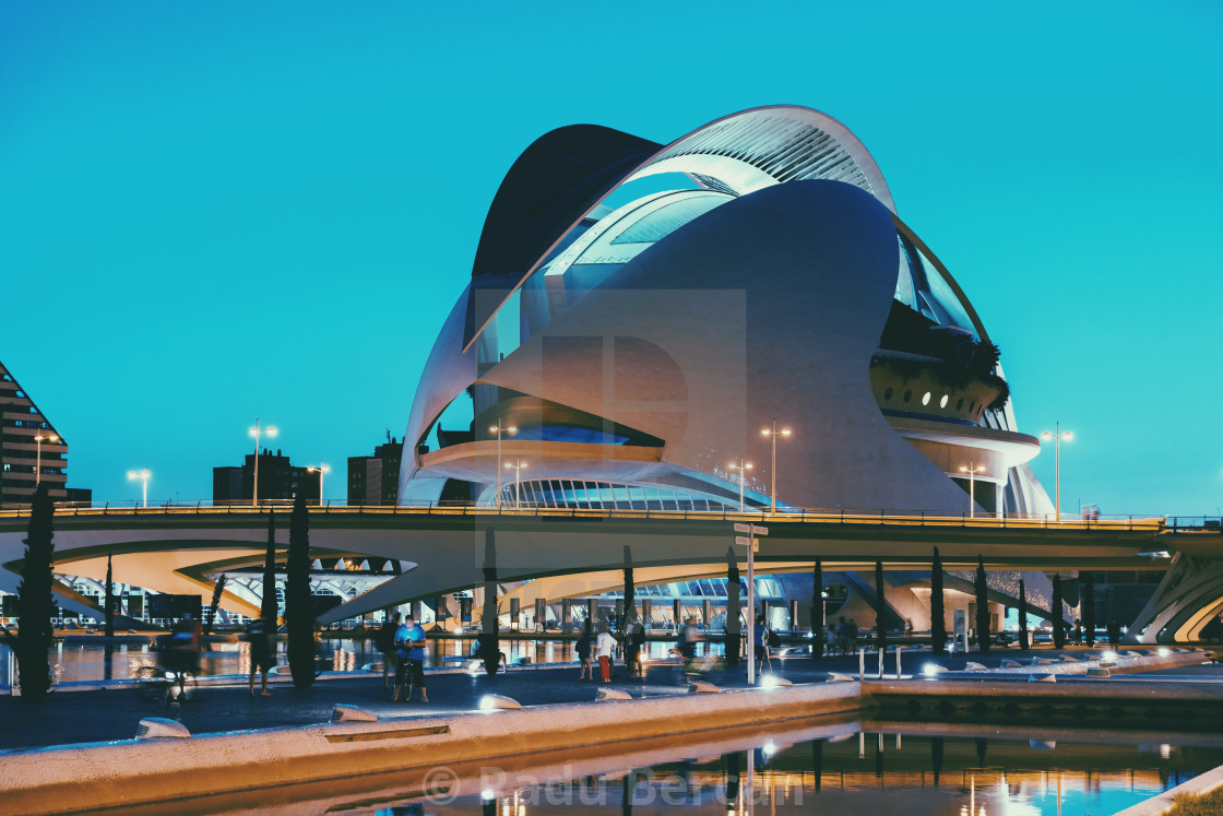 """Reina (Queen) Sofia Palace of Arts of City of Arts and Sciences In Valencia"" stock image"