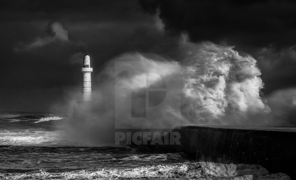 """Storm in Black and withe"" stock image"
