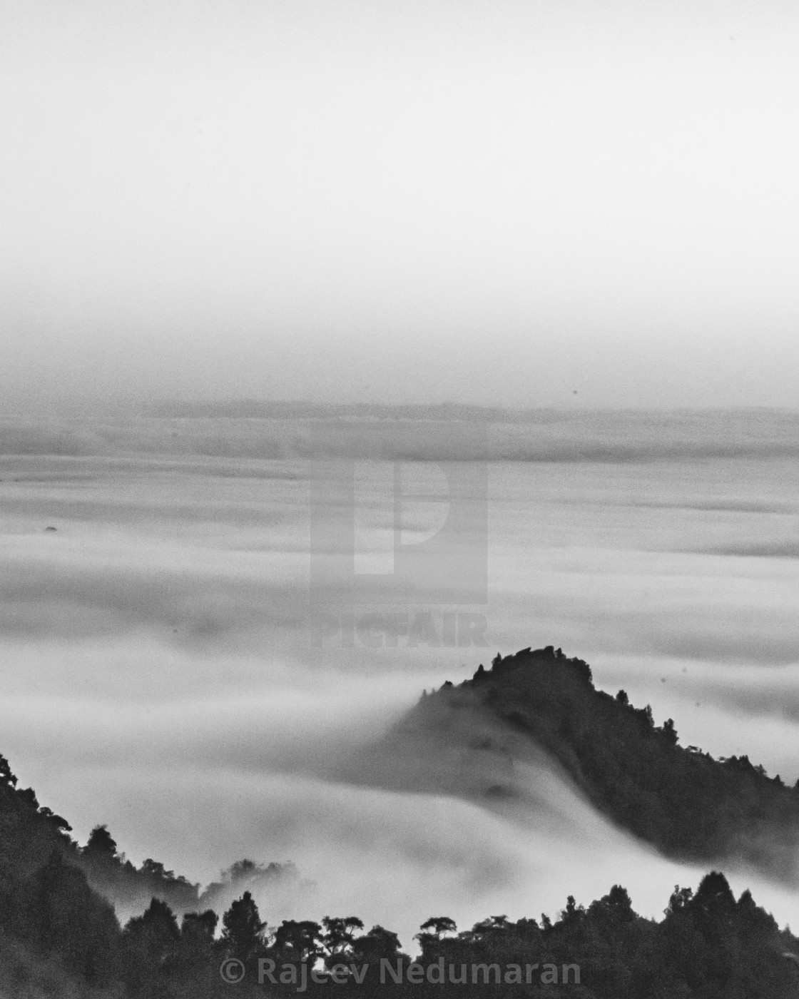 """Fog over the valley-1"" stock image"