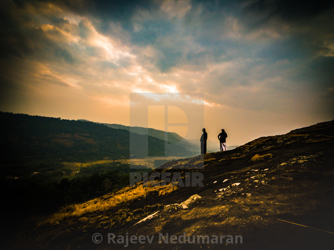 """Impression Sunset in God's Own Country - 2"" stock image"