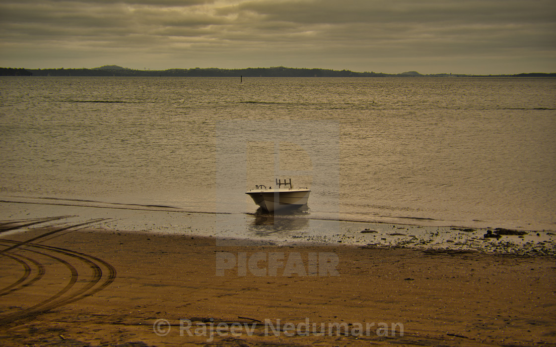 """Lonely Boat"" stock image"
