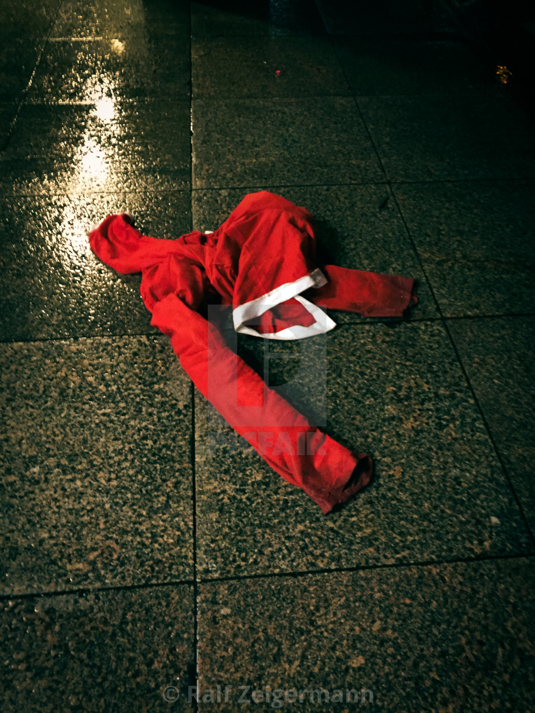 """Dead Santa"" stock image"
