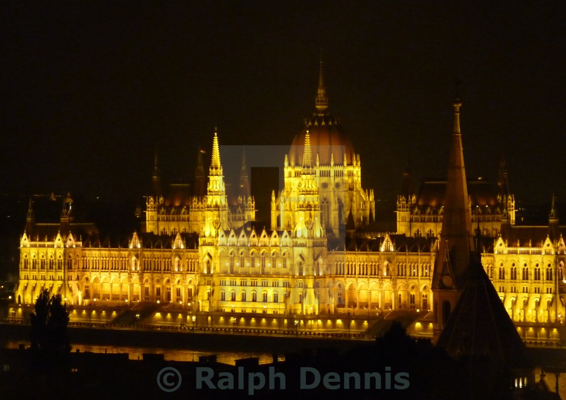 """""""Budapest , Parliament by night"""" stock image"""