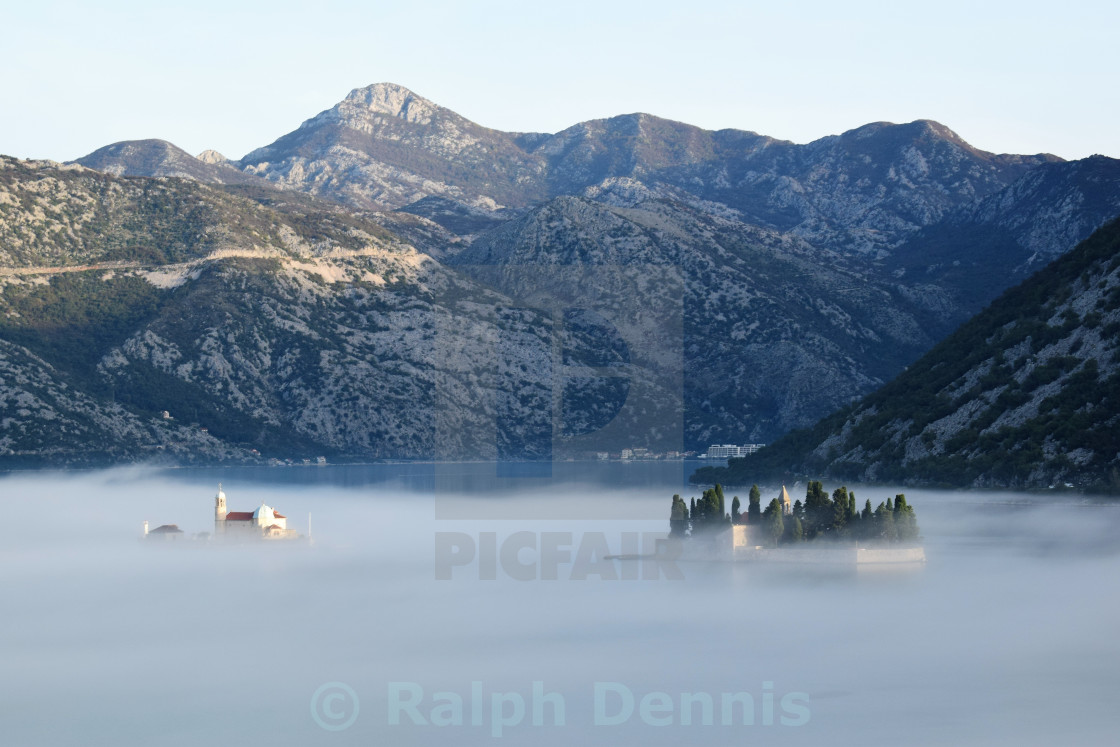 """Islands in the mist"" stock image"