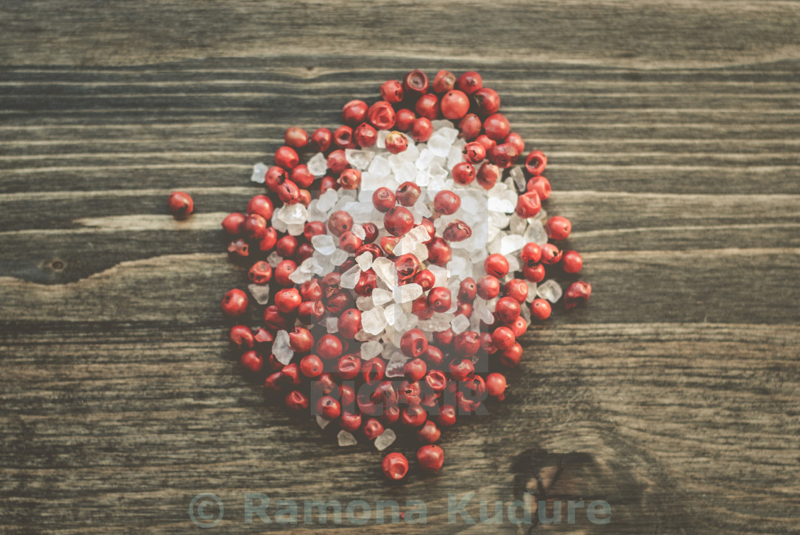 """Pink Pepper and Sea Salt"" stock image"