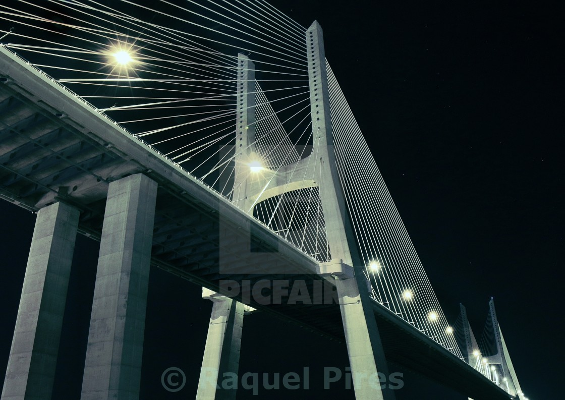 """Night Bridge"" stock image"