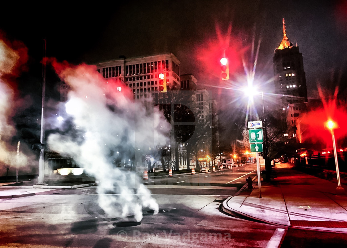"""Downtown Detroit"" stock image"