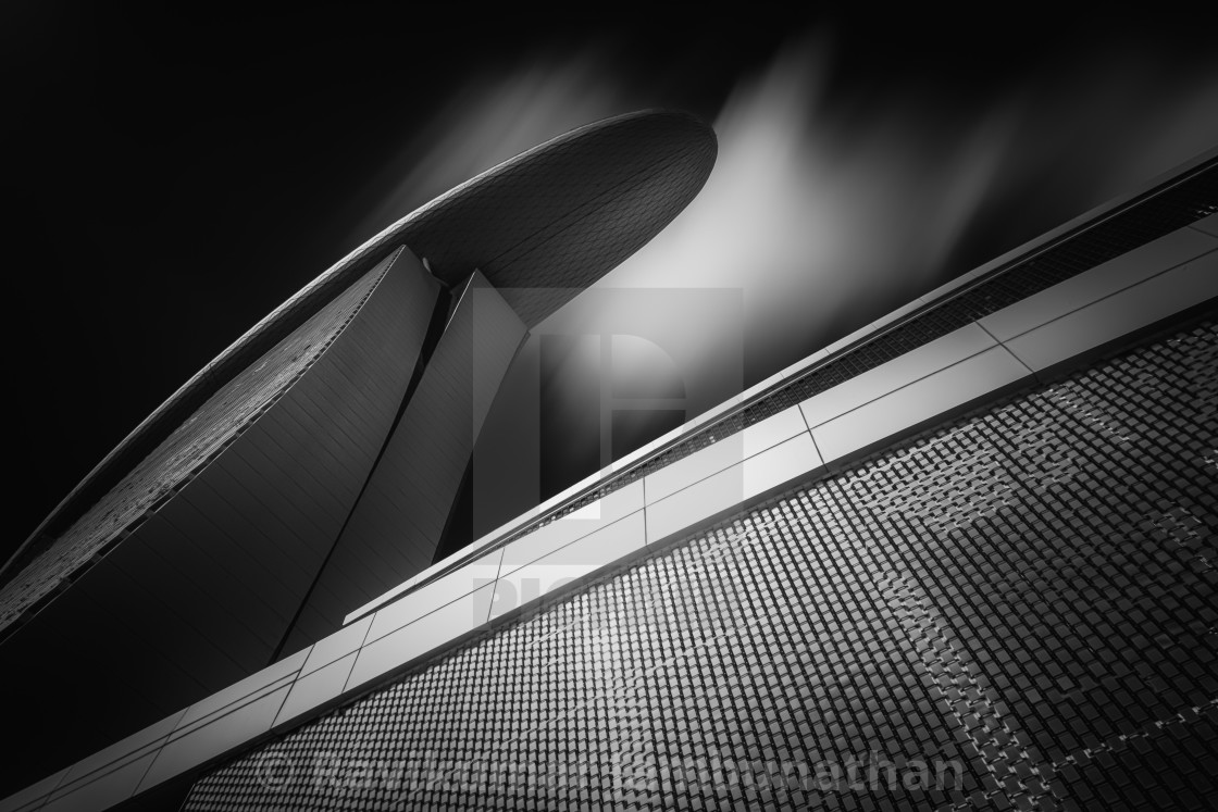 """Marina Bay Sands - Study II"" stock image"