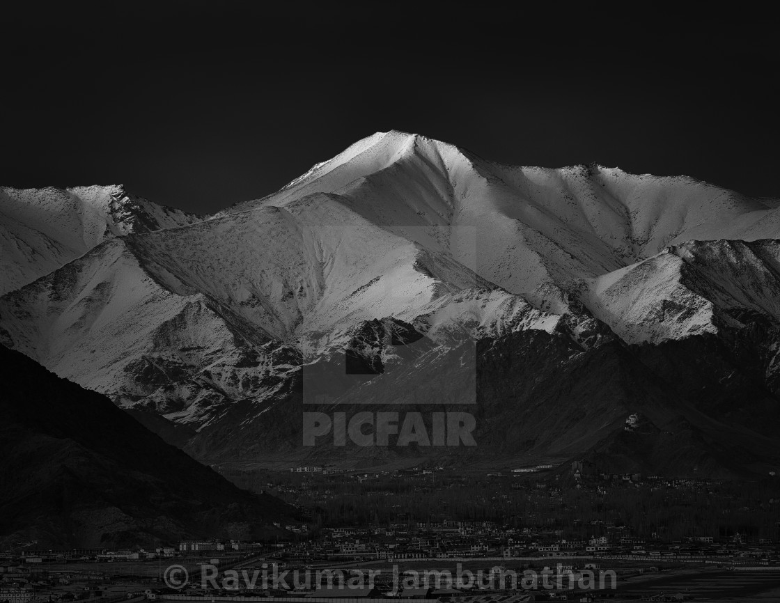 """""""The Grand Himalayan Landscape - 9"""" stock image"""
