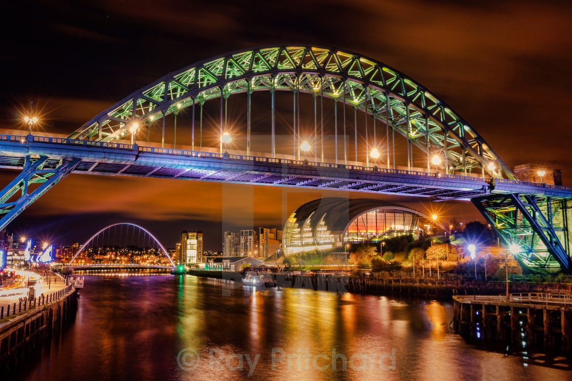 """Night Tyne"" stock image"