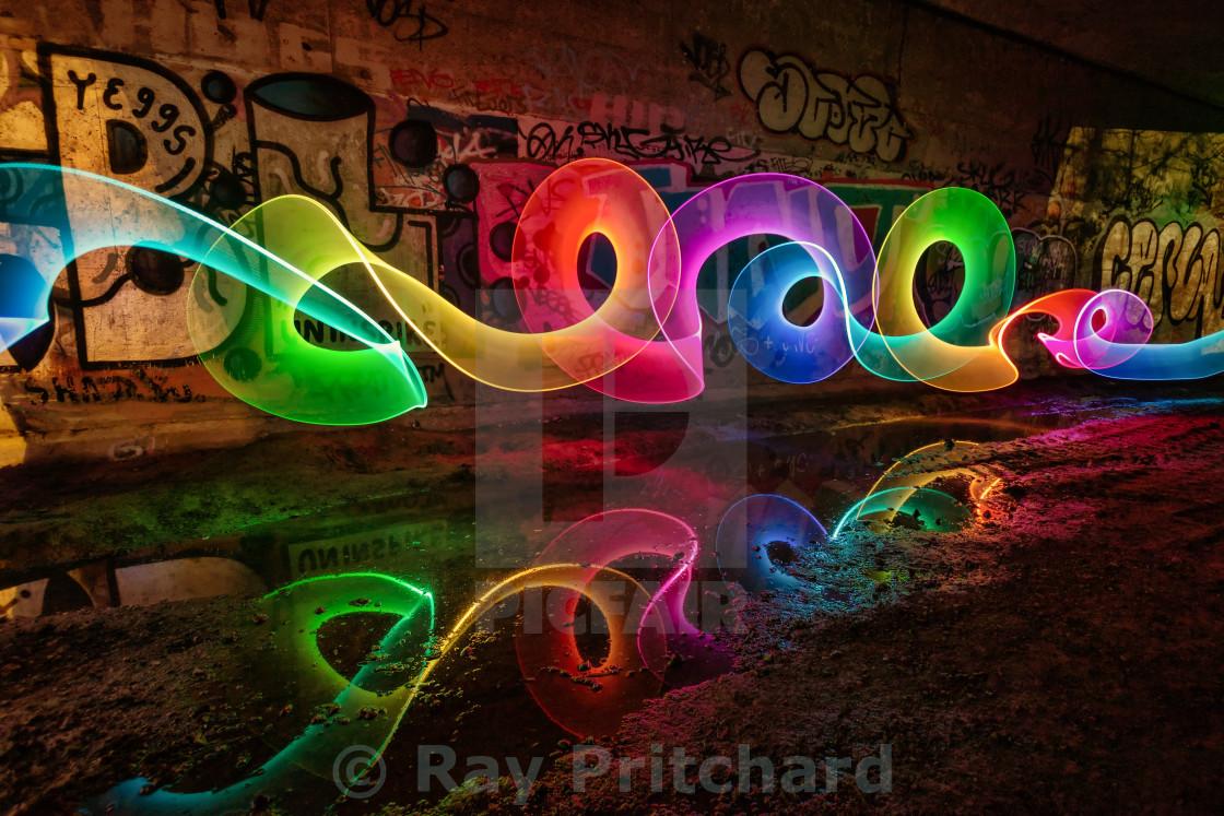 """""""Jarrow Light Painting"""" stock image"""