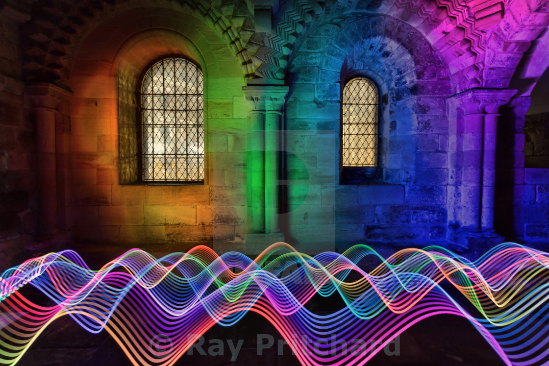 """Light Painting in the Castle"" stock image"