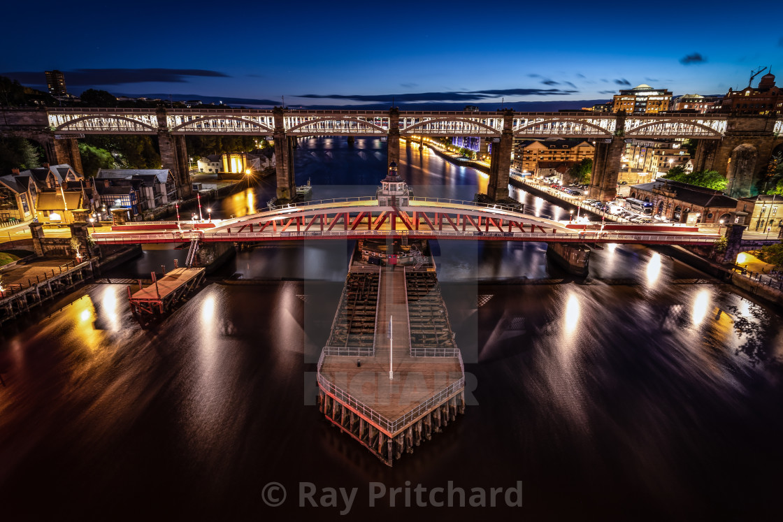 """Swing Bridge at Newcastle"" stock image"