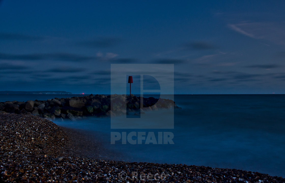 """Southampton Sea"" stock image"