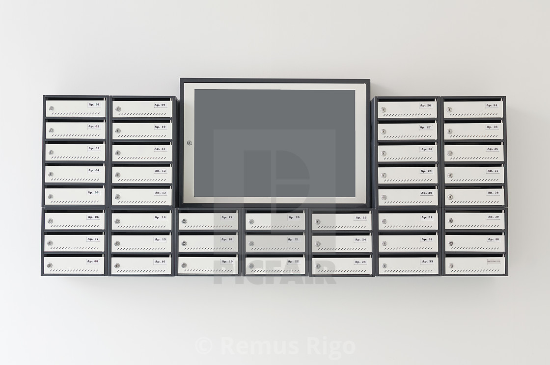 Mailboxes for apartment building - License, download or ...