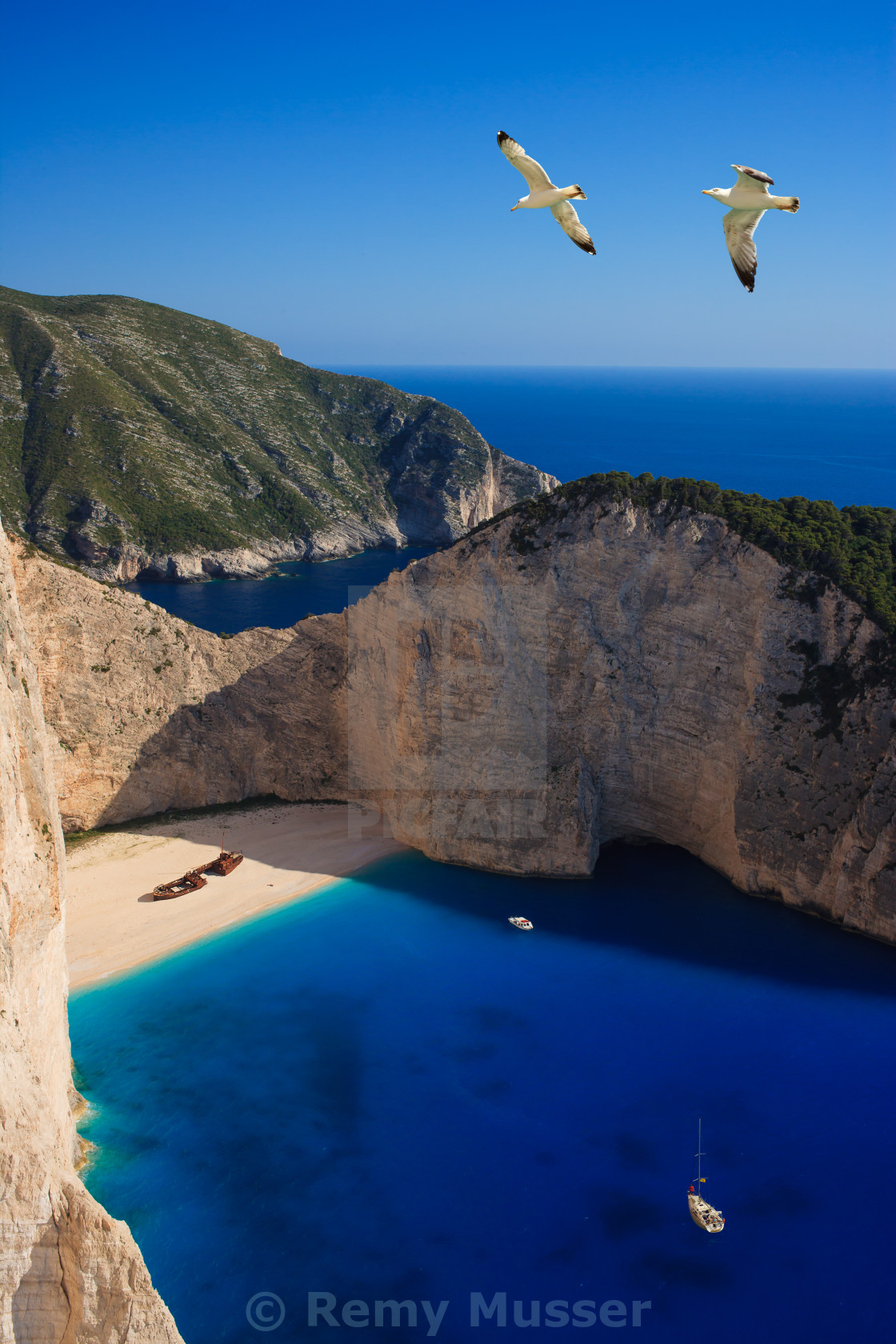 """Shipwreck Navagio beach in Zakynthos"" stock image"