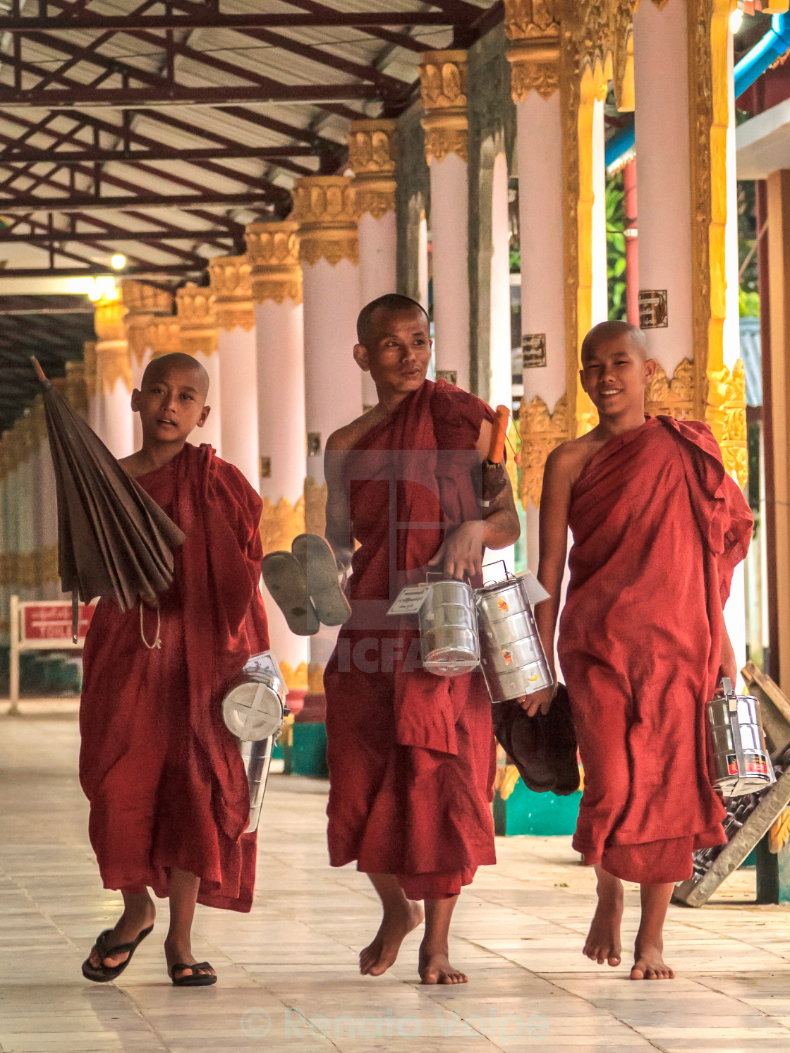 """Snack Time for Monks"" stock image"