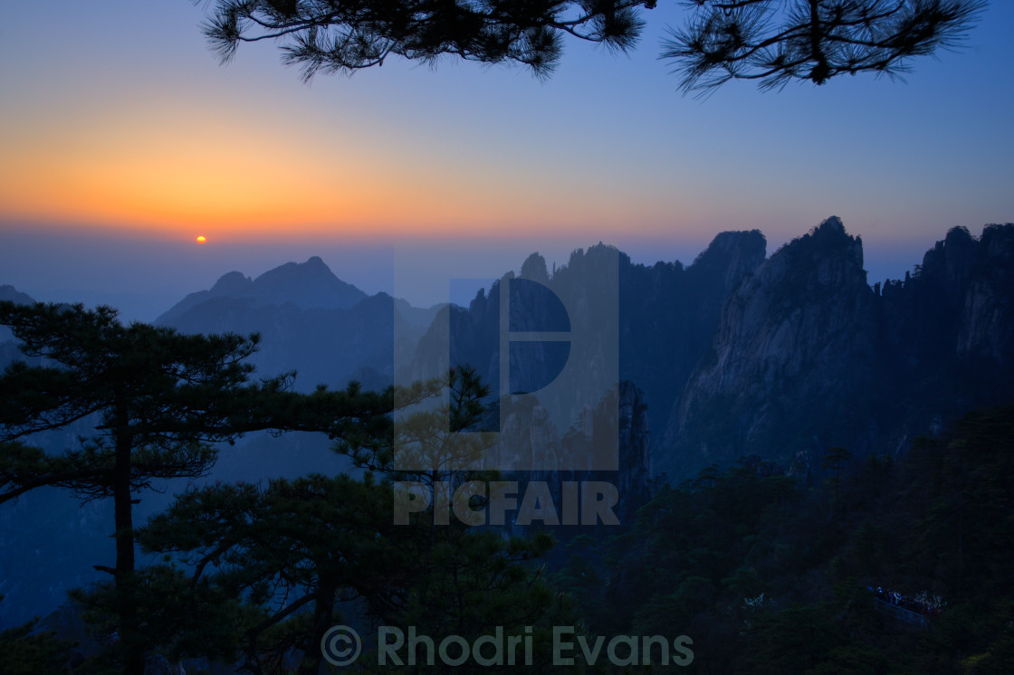 """Huang Shan Sunrise"" stock image"