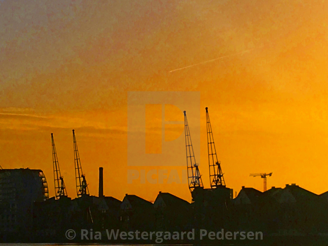 """""""Golden hour by the Thames"""" stock image"""