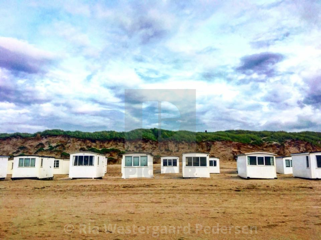 """Beach summer houses"" stock image"