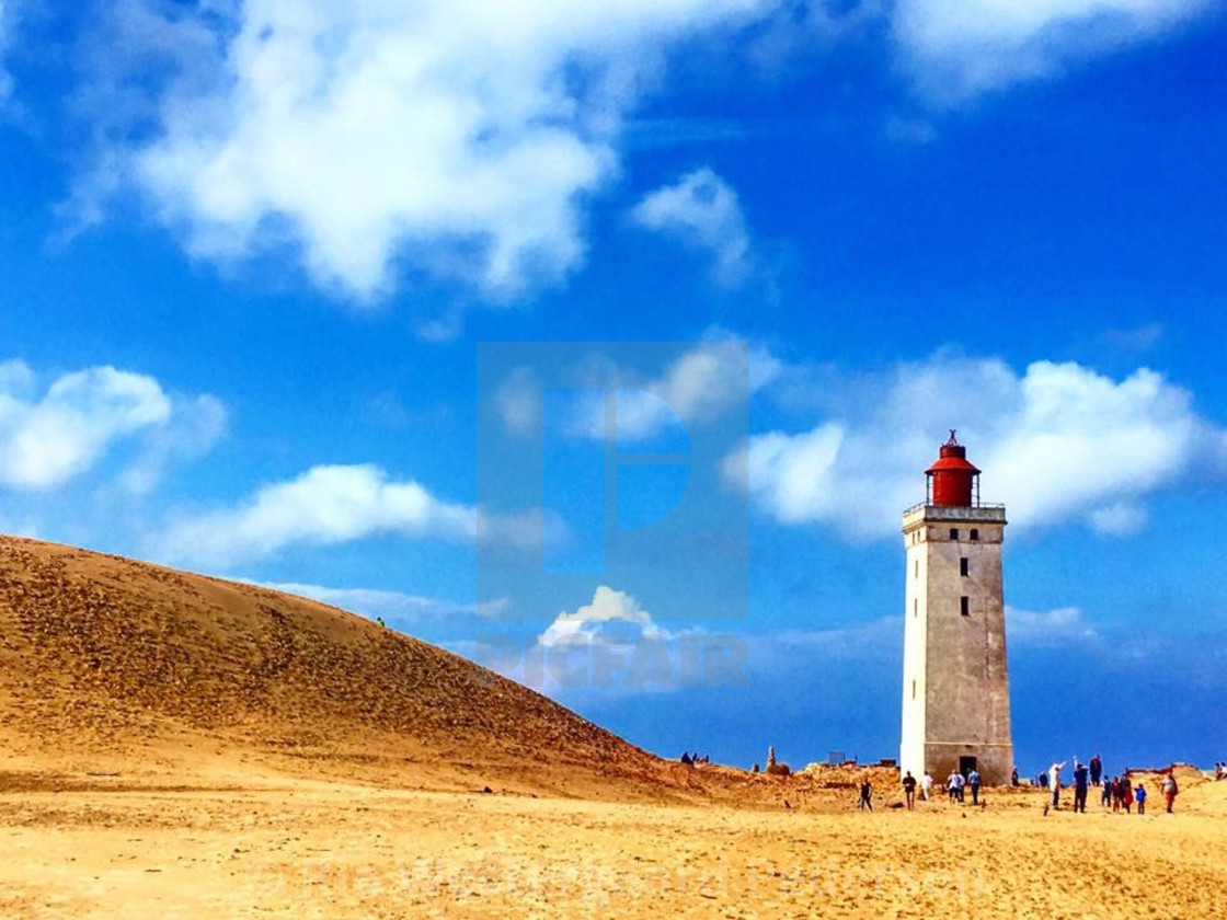 """Rubjerg knude lighthouse"" stock image"