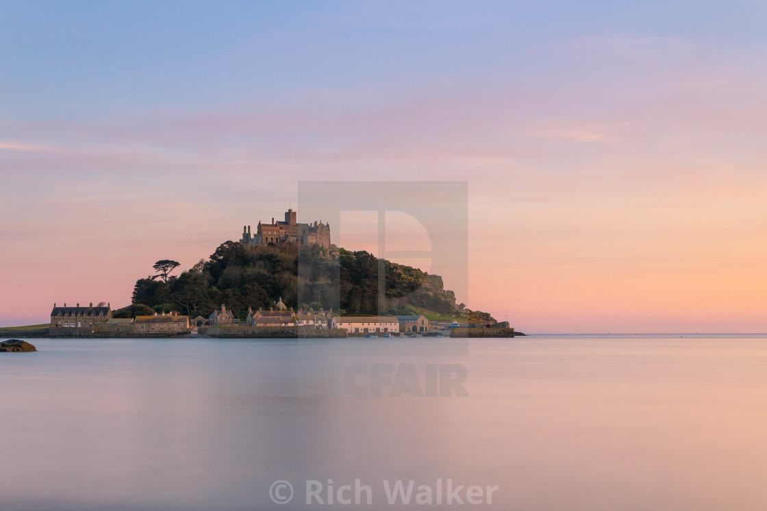 """St Michael's Mount at Dusk"" stock image"