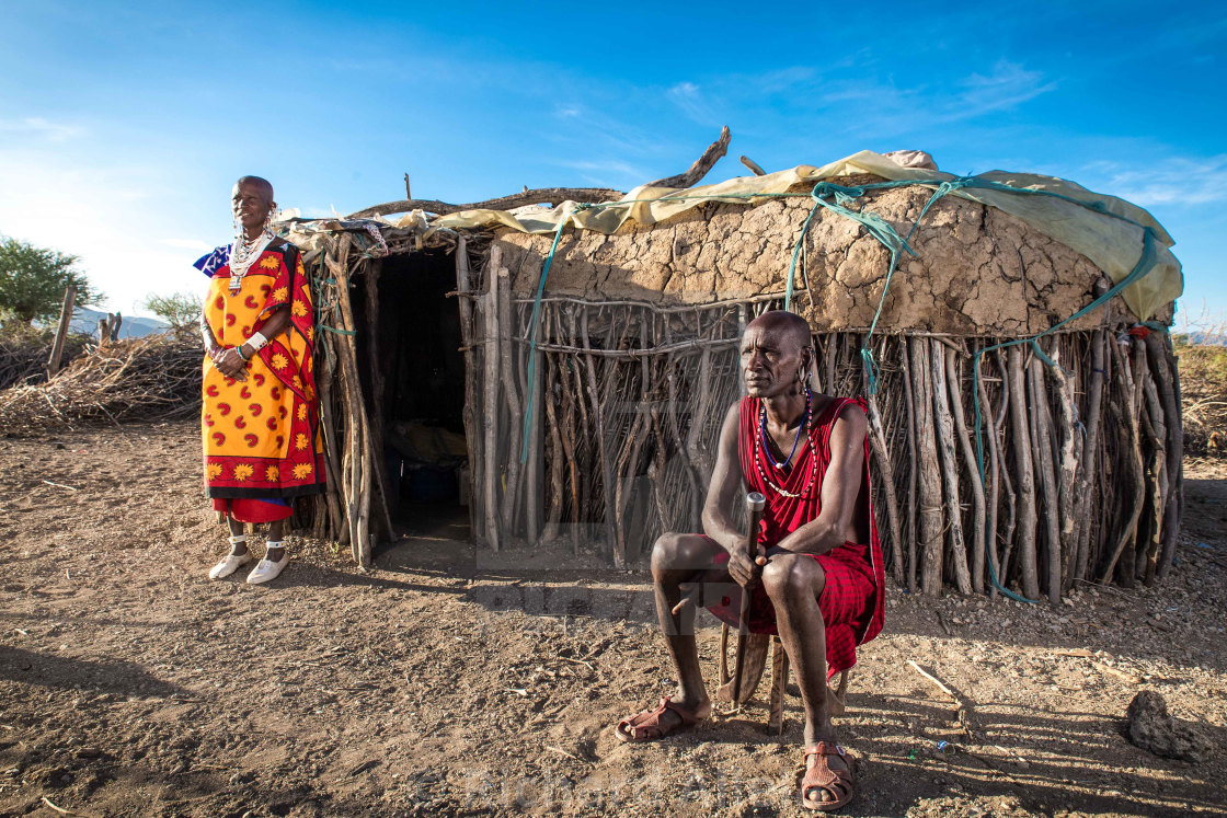 """Maasai homestead"" stock image"