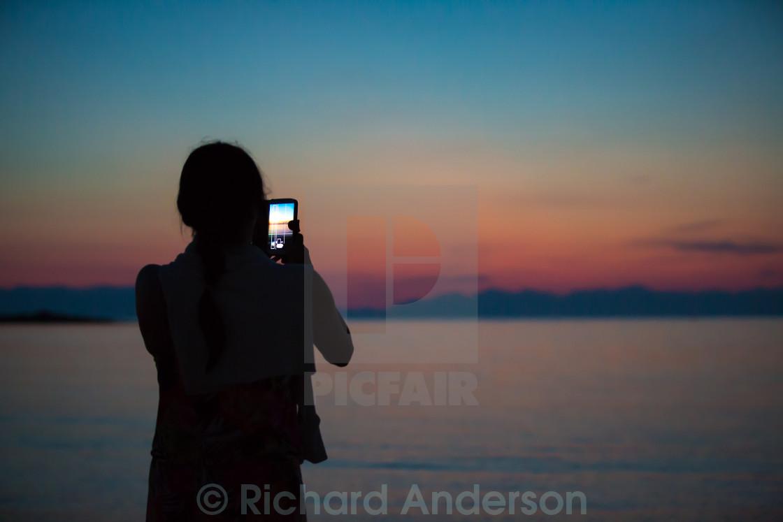 """Sunset Photographer in Greece"" stock image"