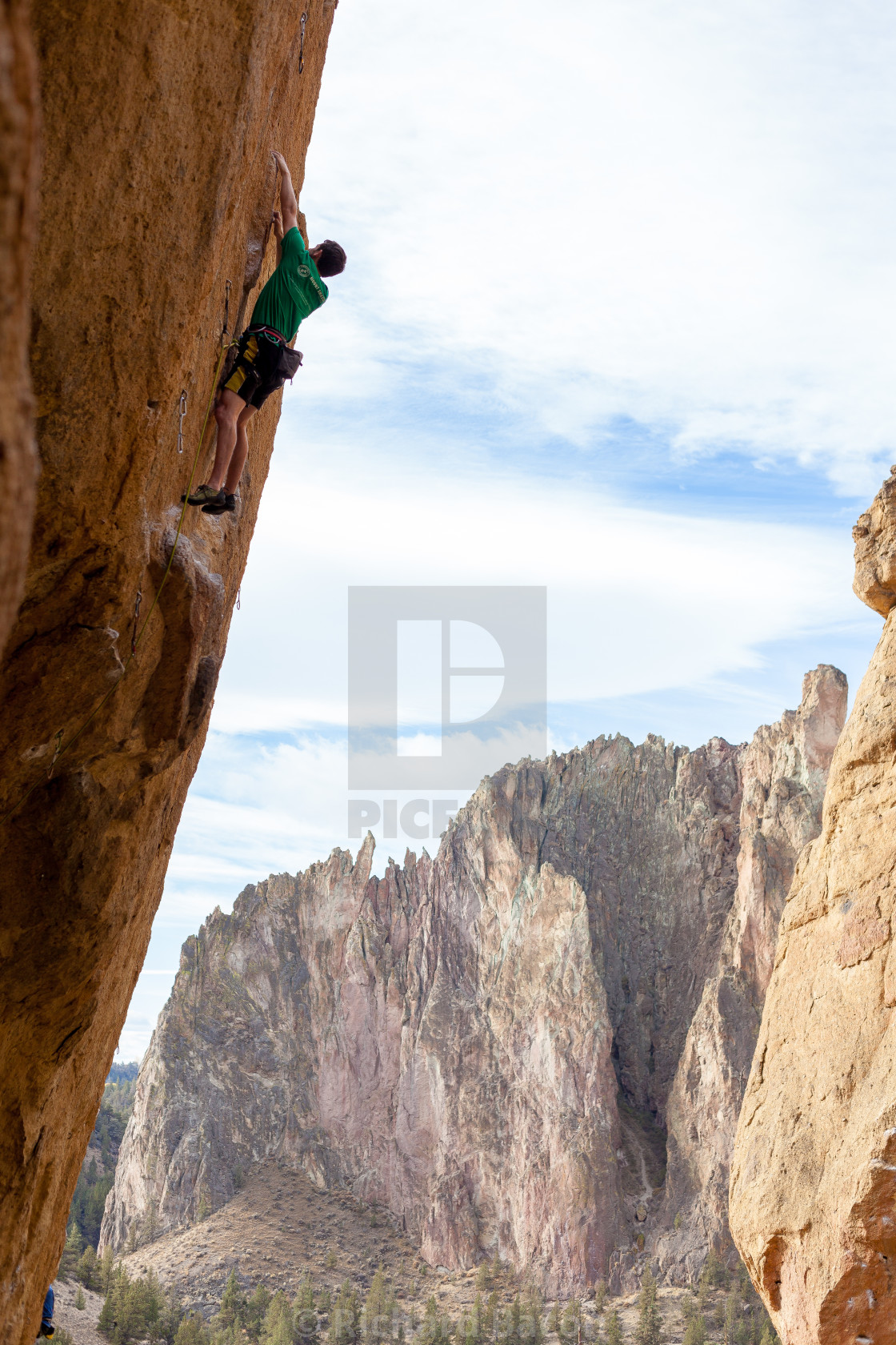 """Smith Rock Climber"" stock image"