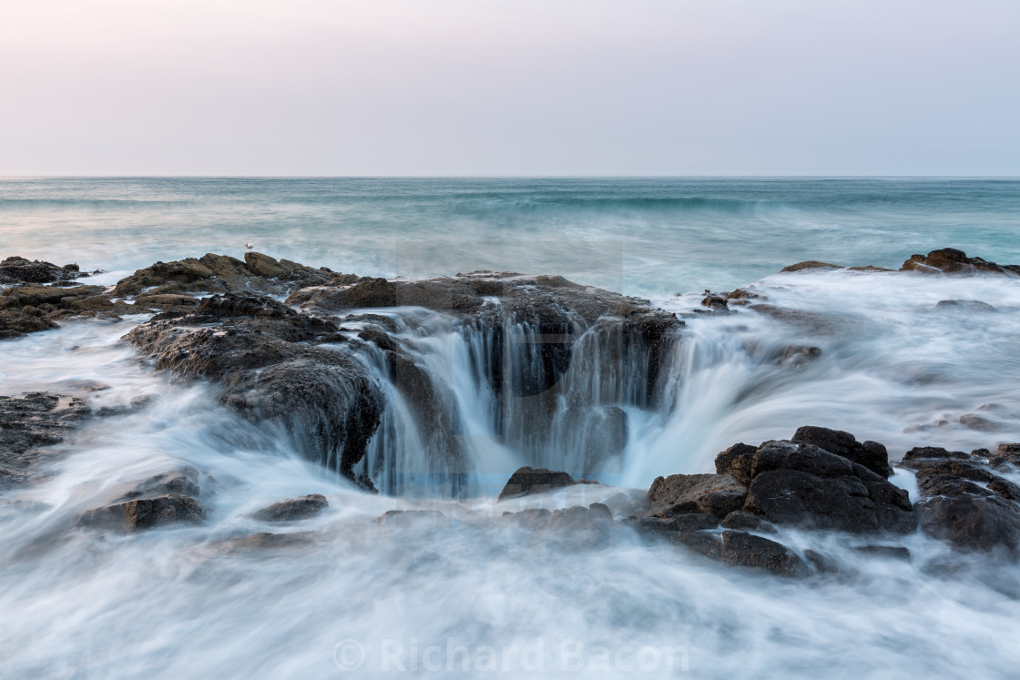 """Thor's Well"" stock image"