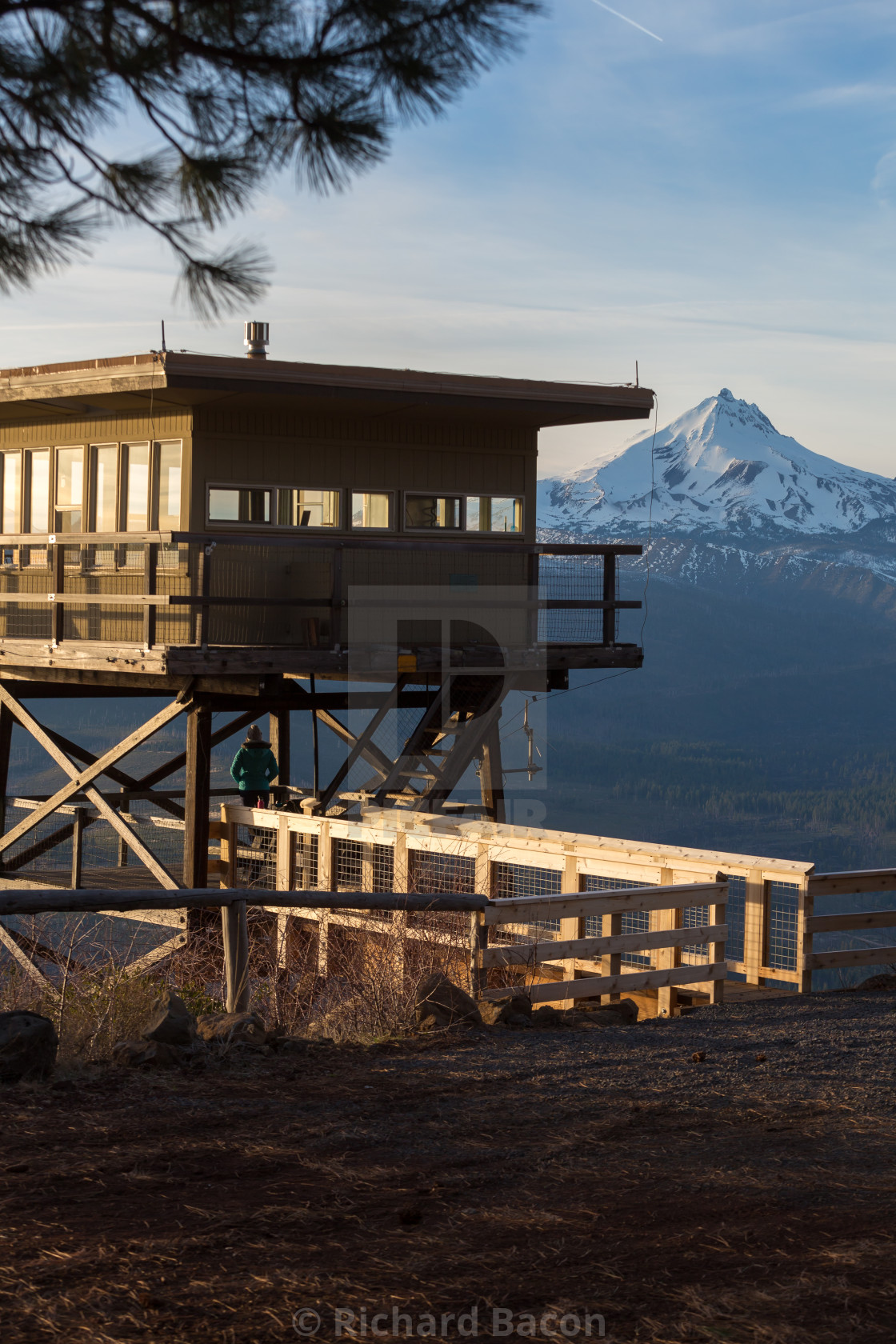 """""""Mountain Fire Lookout Tower"""" stock image"""