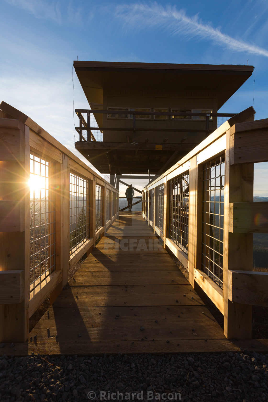 """""""Fire Lookout Tower"""" stock image"""