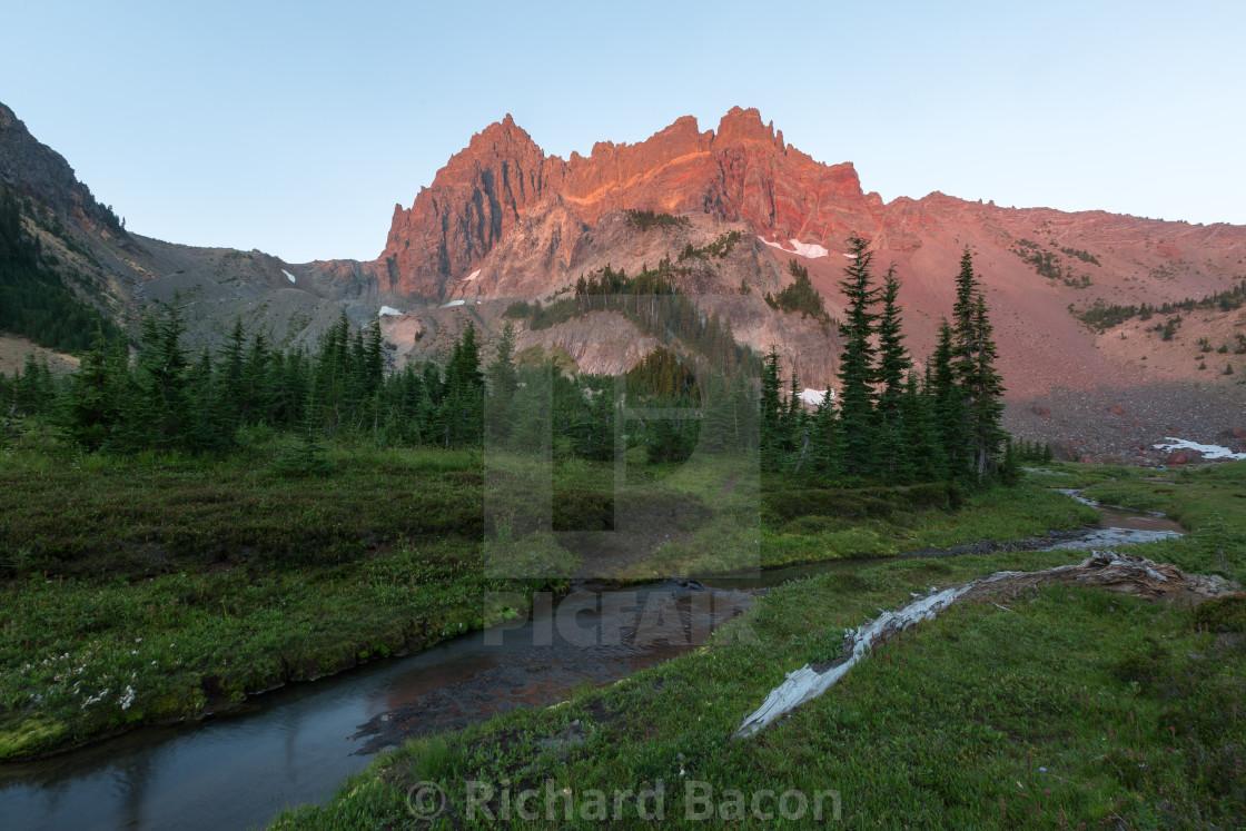 """Mountain Meadow Sunrise"" stock image"