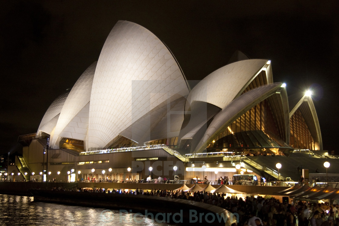 """Sydney Opera House at Night"" stock image"