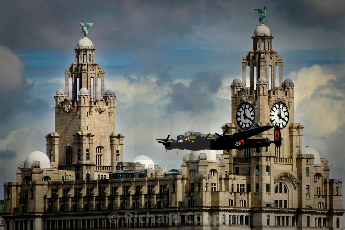 """""""Lancaster Bomber at Liverpool"""" stock image"""