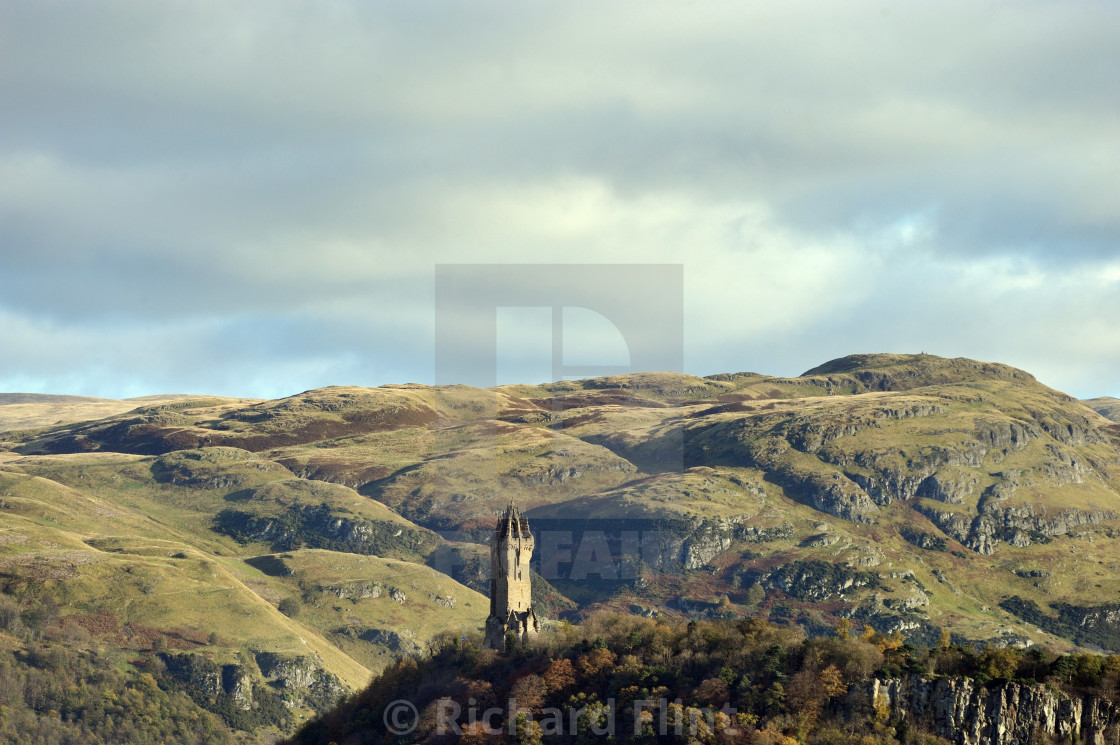 """""""The National Wallace Monument, Stirling, Scotland"""" stock image"""
