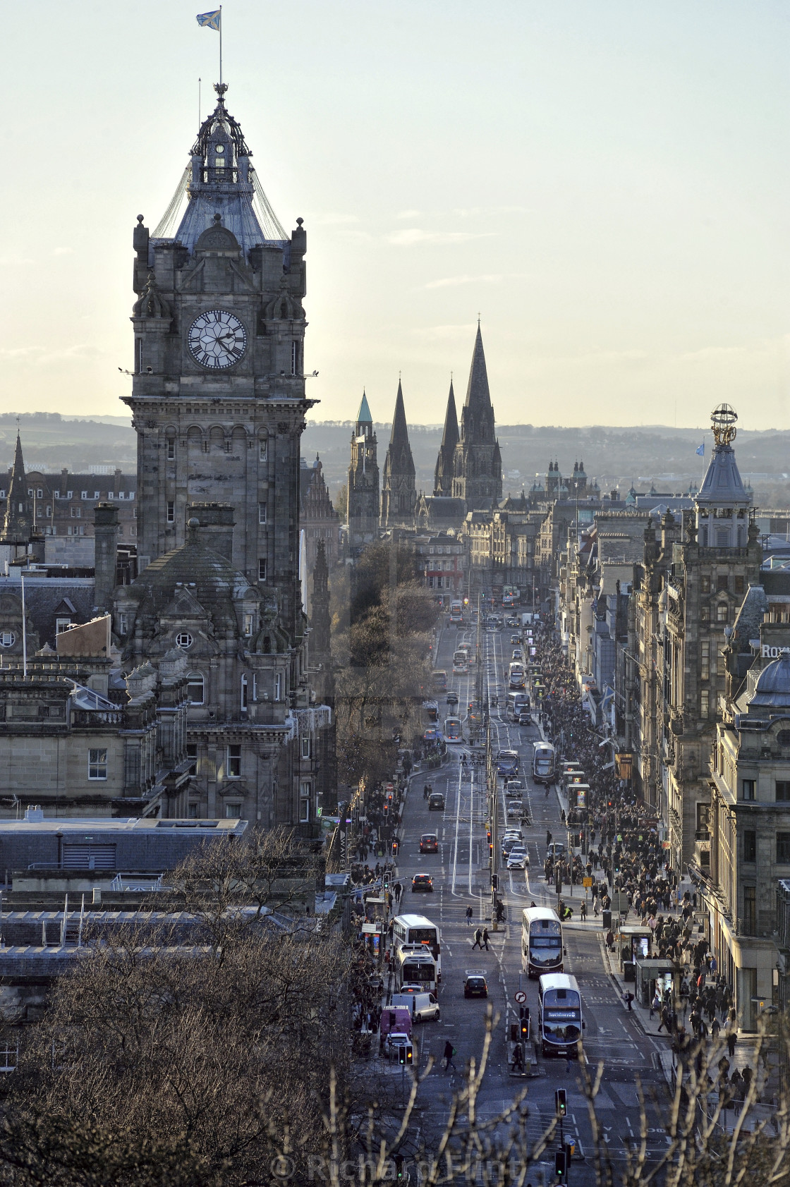 """Princes Street in Edinburgh, Scotland"" stock image"