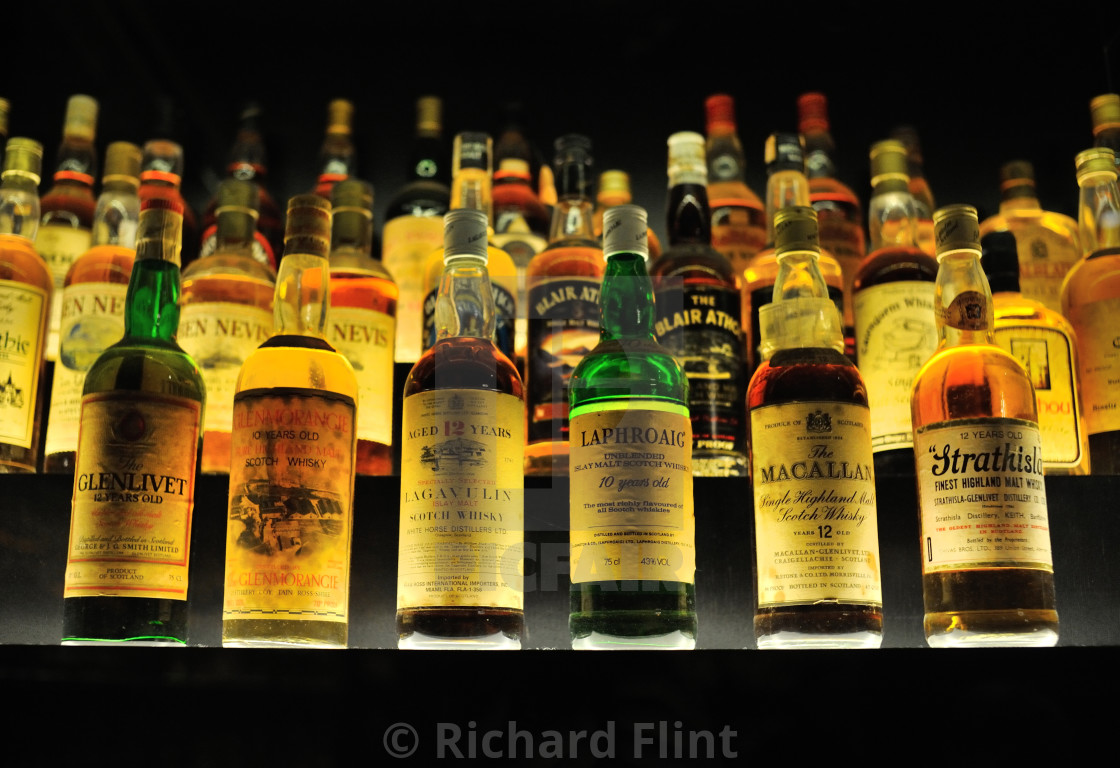 """""""Whisky Collection"""" stock image"""