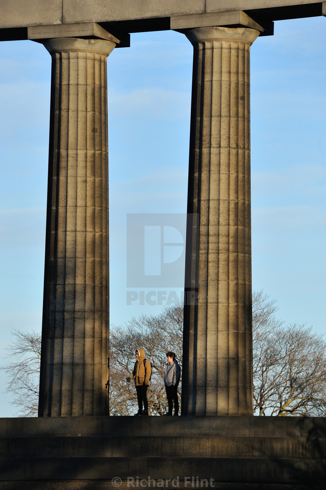 """Two standing - National Monument of Scotland"" stock image"