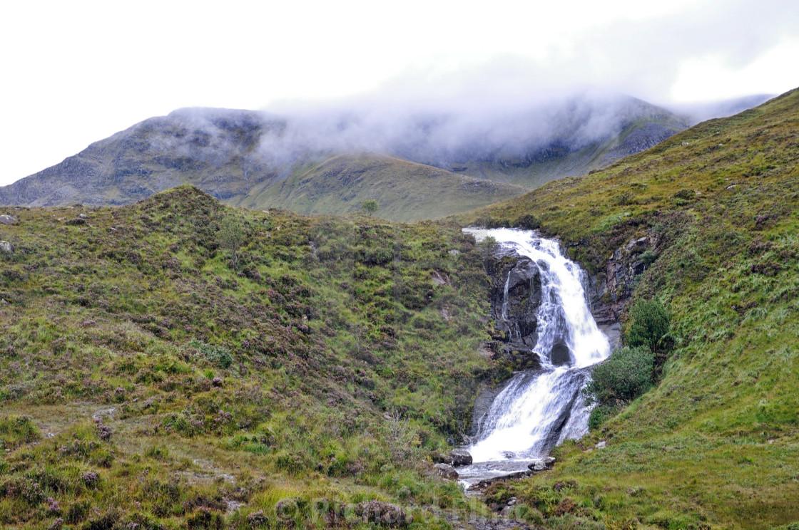 """Blackhill Falls, Isle of Skye"" stock image"